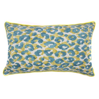 Cheetah Outdoor Lumbar Pillow Color: Teal