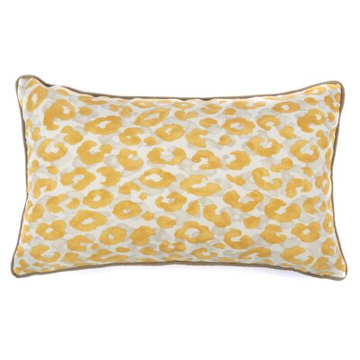 Cheetah Outdoor Lumbar Pillow Color: Yellow