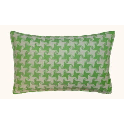 Houndstooth Outdoor Lumbar Pillow Color: Green