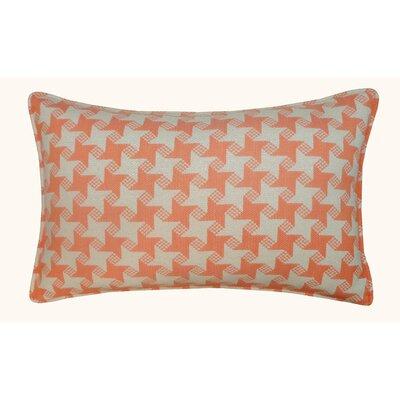 Houndstooth Outdoor Lumbar Pillow Color: Orange