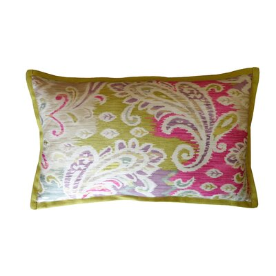 Passion Cotton Lumbar Pillow Color: Green/Pink