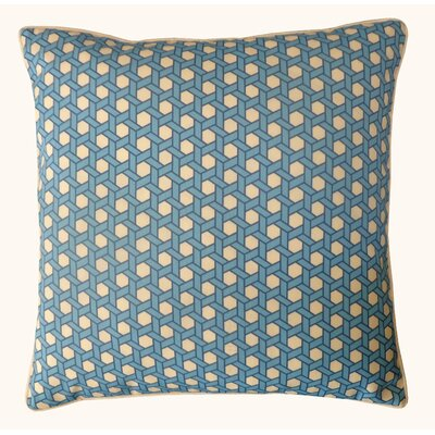 Lanyard Outdoor Throw Pillow Color: Blue