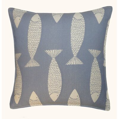 Salmon Outdoor Throw Pillow Color: Blue