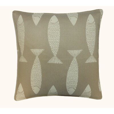 Salmon Outdoor Throw Pillow Color: Taupe