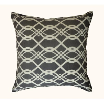 Trellis Outdoor Throw Pillow Color: Black
