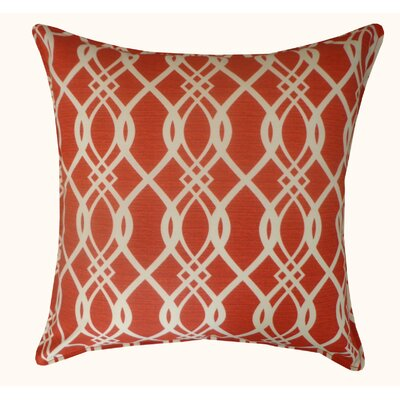 Trellis Outdoor Throw Pillow Color: Red