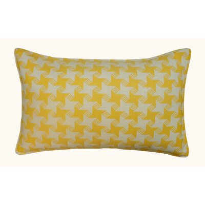 Houndstooth Outdoor Lumbar Pillow Color: Yellow