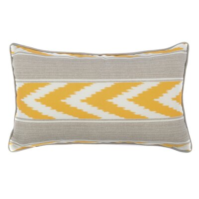Ikat Stripe Outdoor Lumbar Pillow Color: Yellow