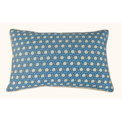 Lanyard Outdoor Lumbar Pillow Color: Blue