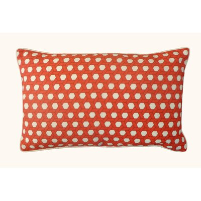 Lanyard Outdoor Lumbar Pillow Color: Red