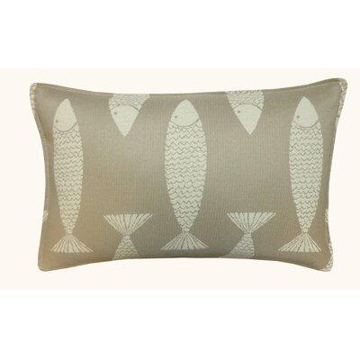 Salmon Outdoor Lumbar Pillow Color: Taupe