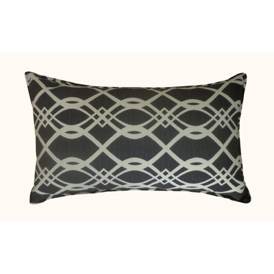 Trellis Outdoor Lumbar Pillow Color: Black