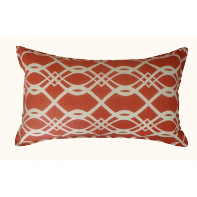 Trellis Outdoor Lumbar Pillow Color: Red