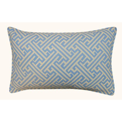 Wave Maze Outdoor Lumbar Pillow Color: Blue
