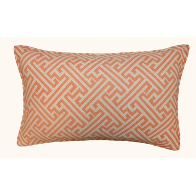 Wave Maze Outdoor Lumbar Pillow Color: Orange