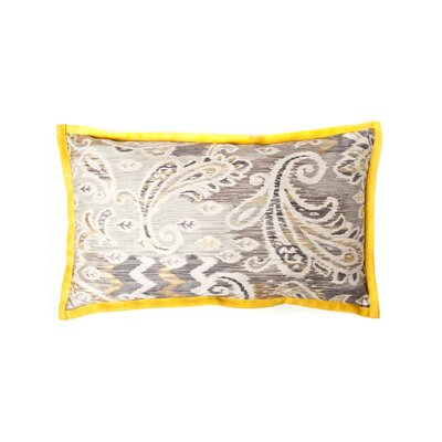 Passion Cotton Lumbar Pillow Color: Taupe/Yellow