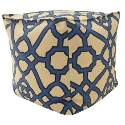 Outdoor Pouf Upholstery: Blue
