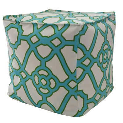 Octagon Outdoor Pouf Ottoman Upholstery: Jade