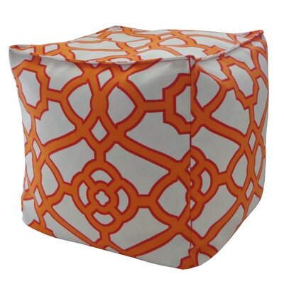 Outdoor Pouf Upholstery: Orange