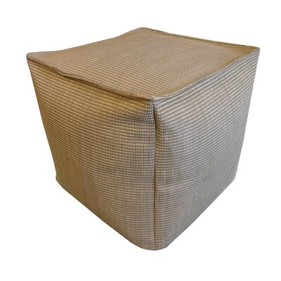 Raffi Outdoor Pouf Ottoman Upholstery Color: Brown