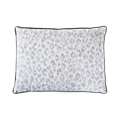 Leopard Cotton Throw Pillow Color: Blue