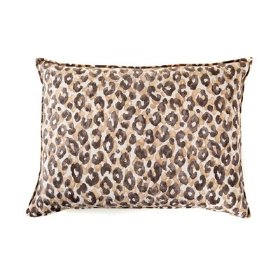 Leopard Cotton Throw Pillow Color: Brown