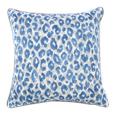 Cheetah Outdoor Throw Pillow Color: Blue