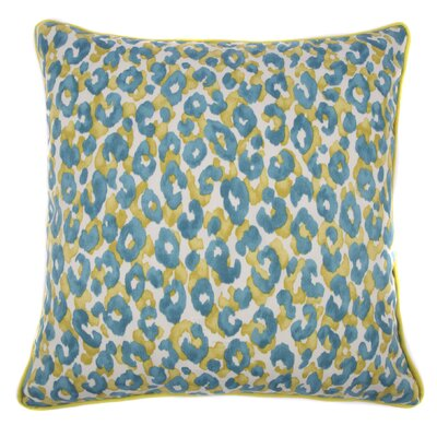 Cheetah Outdoor Throw Pillow Color: Teal