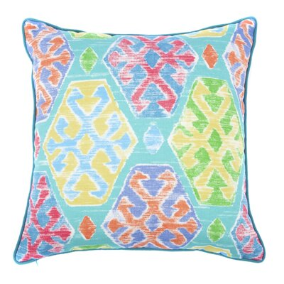 C OutdoorThrow Pillow Color: Teal