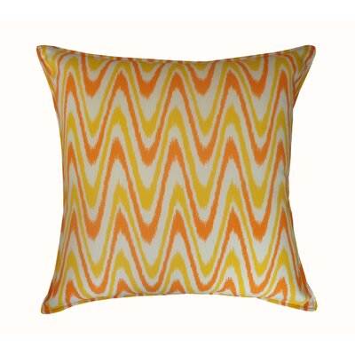 Electricity Outdoor Throw Pillow Color: Orange