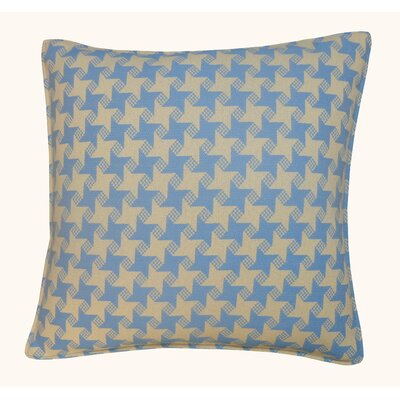 Houndstooth Outdoor Throw Pillow Color: Blue