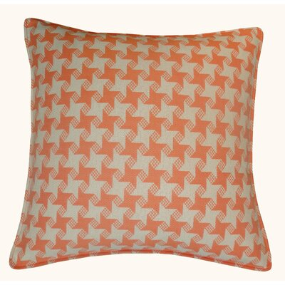 Houndstooth Outdoor Throw Pillow Color: Orange