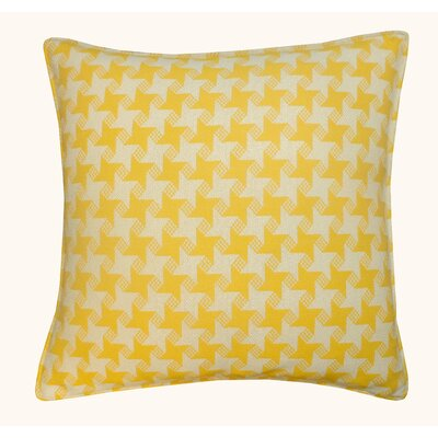 Houndstooth Outdoor Throw Pillow Color: Yellow