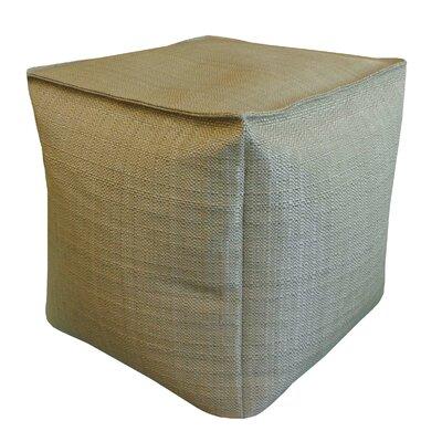 Raffi Outdoor Pouf Ottoman Upholstery Color: Sage
