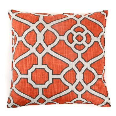 Celtic Cotton Throw Pillow Color: Orange