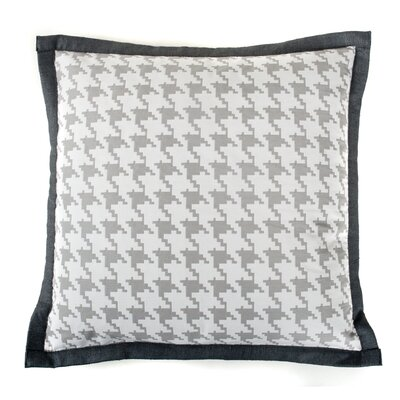 Houndstooth Cotton Throw Pillow Color: Gray