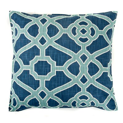 Celtic Cotton Throw Pillow Color: Blue