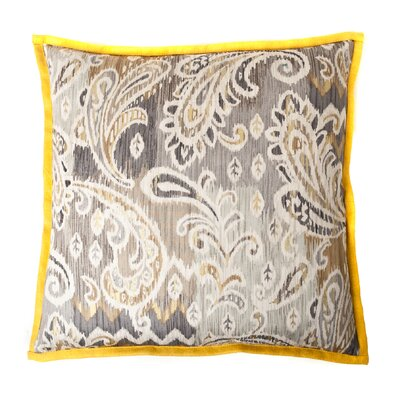 Passion Cotton Throw Pillow Color: Taupe/Yellow