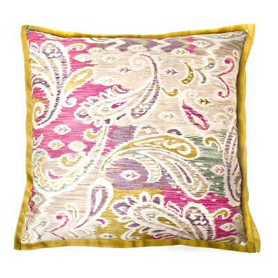 Passion Cotton Throw Pillow Color: Green/Pink
