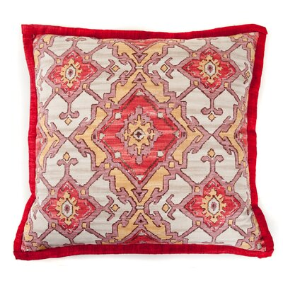 Pharoah Cotton Throw Pillow Color: Red