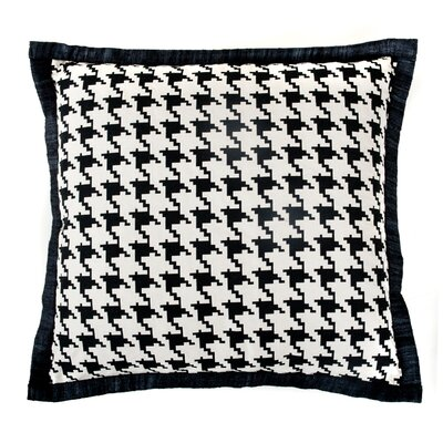 Houndstooth Cotton Throw Pillow Color: Black