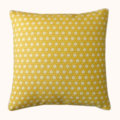 Lanyard Outdoor Throw Pillow Color: Yellow