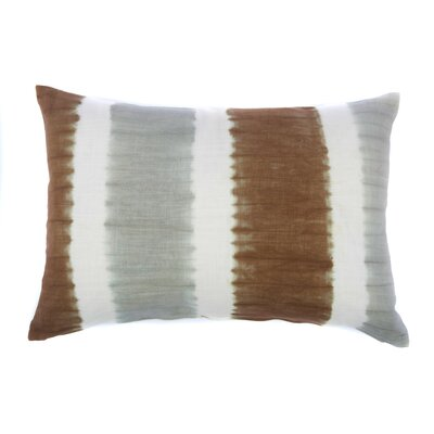 Tie Dye Bands Cotton Throw Pillow Color: Chocolate