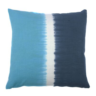 Tie Dye Bands Cotton Throw Pillow Color: Steal