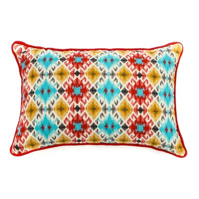 Chopped Outdoor Lumbar Pillow Fabric: Multi, Size: 12 H x 20 W