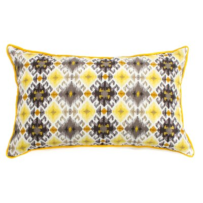 Chopped Outdoor Lumbar Pillow Fabric: Yellow, Size: 12 H x 20 W