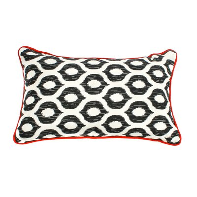 Eye Outdoor Lumbar Pillow Fabric: Black, Size: 12 H x 20 W