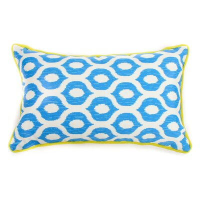 Eye Outdoor Lumbar Pillow Fabric: Blue, Size: 20 H x 20 W