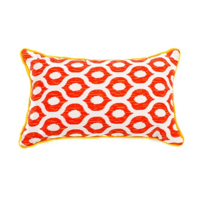 Eye Outdoor Lumbar Pillow Fabric: Red, Size: 20 H x 20 W