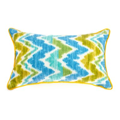 Scissors Outdoor Lumbar Pillow Fabric: Green, Size: 20 H x 20 W
